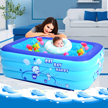 Durable Inflatable Swimming Pool Family Outdoor Balconies Backyard Garden Summer Paddling Pools Inflated Tubs Kids Water Toys