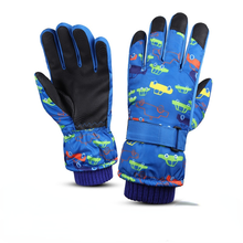 Skiing Gloves Waterproof Winter Snowboarding Mittens Kids Full-Finger Strap Cold  Waterproof WarmSports Cycling Gloves