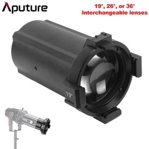 Image 1 - Aputure بقعة ليغث قابلة للتبديل عدسة 19 ° 26 ° 36 ° ل Aputure الأضواء جبل مجموعة