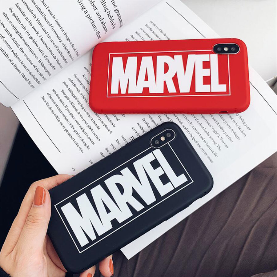 3D Cartoon Marvel Letter Matte Case For iPhone 11 Pro XR Max X XS 6 6s 7 8 Plus American Comics Soft Silicone TPU Coque Case
