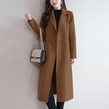 Осенне-зимние женские пальто, женская повседневная куртка на пуговицах, элегантная офисная модная женская кофта с длинным рукавом, пальто