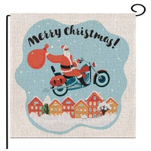 2019 New Christmas Car Letter Christmas Pattern Double-sided Printing Garden Balcony Outdoor Home Decoration Flag