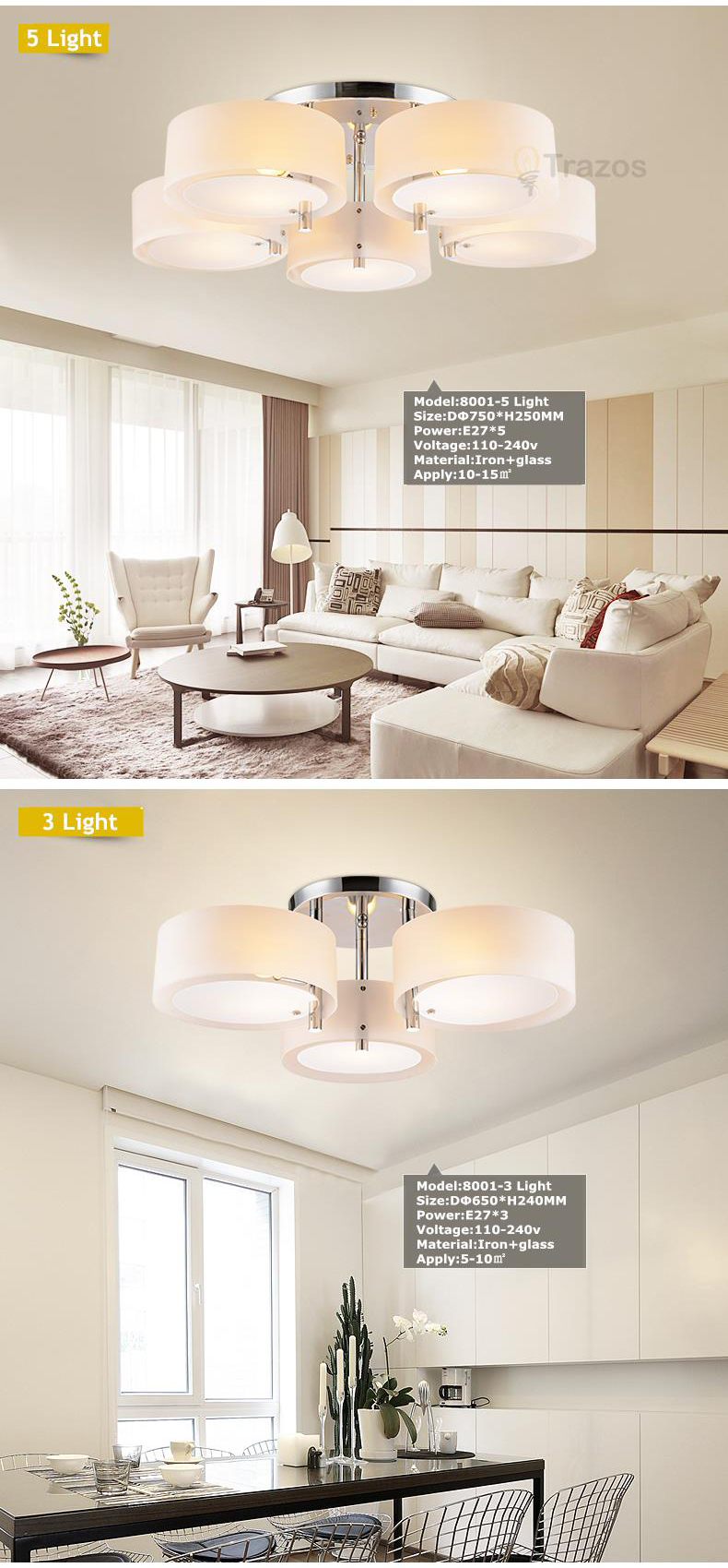 H126107cb2e774e8993b1c21563dcd9e6t NEW 2019 Modern Ceiling Lights modern fashionable design dining room lamp pendente de teto de cristal white shade acrylic lustre