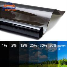 Película opaca para ventana de coche, película protectora UV, adhesivos de lámina, 50cm, 20/25/35/50% VLT, 1 rollo
