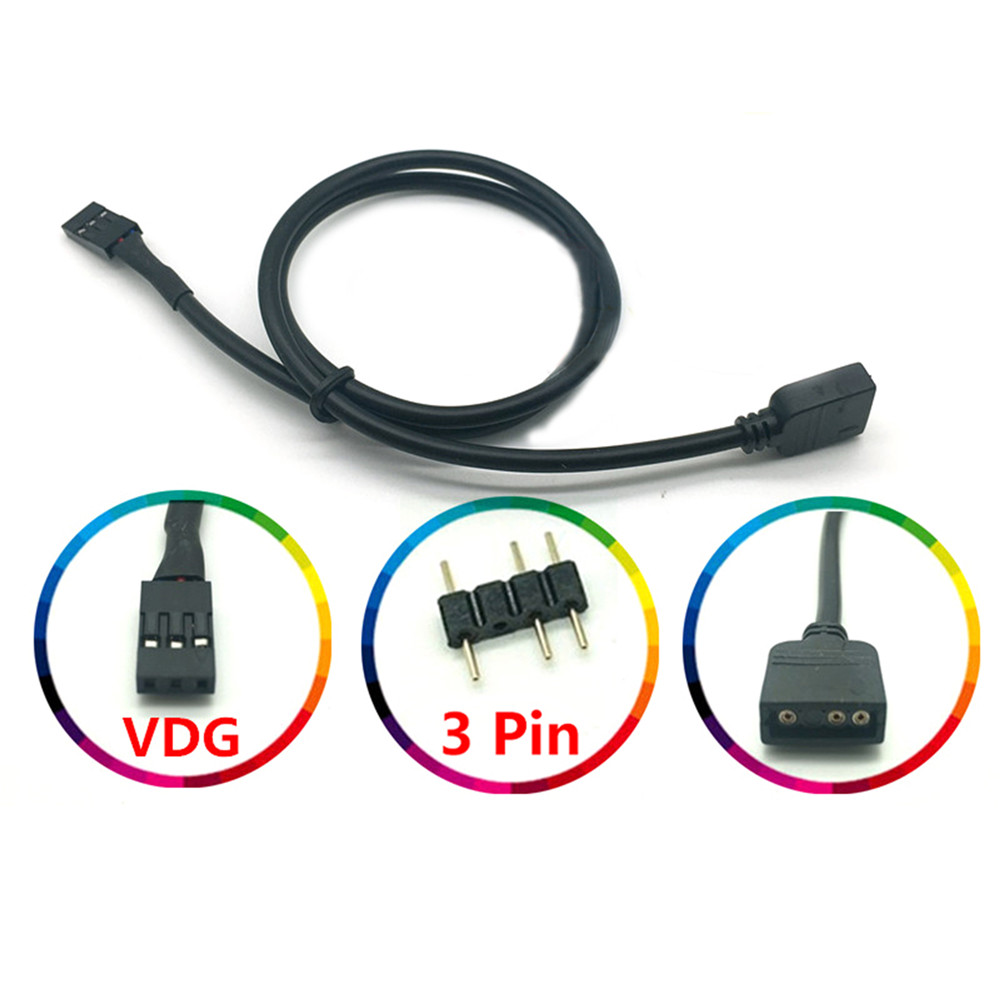 5V 3PIN RGB VDG Conversion Cable Line Connector For GIGABYTE Motherboard Spare Parts