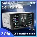 Автомагнитола Carsanbo 2 Din, 7 дюймов, сенсорный экран, стерео, мультимедийный плеер MP5 Mirror Link, Android/IOS, Bluetooth, FM, SD, USB, AUX вход