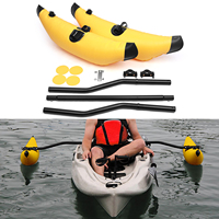 Water Sports Kayak PVC Inflatable Outrigger Float with Sidekick Arms Rod Kayak Boat Fishing Standing Float Stabilizer System Kit