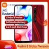 Original Global Version Xiaomi Redmi 8 Smartphone 4GB RAM 64GB ROM 6.21 Full Screen Eight Core CPU 5000 mAh Battery Mobile Phone