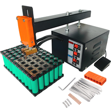 JST Pulse Spot Welder Machine 18650 Lithium Battery Spot Welder 3KW High Power Will Not Trip The Battery Welding Thickness 0.2mm the main transformers two transformers of the 18650 microcomputer control spot welding high power spot welder battery welding
