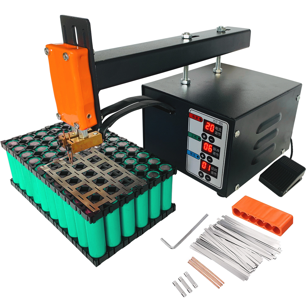 Pulse Spot Welder Machine 18650 Lithium Battery Contact Welding 3KW High Power Will Not Trip The Circuit Welding Thickness 0.2mm