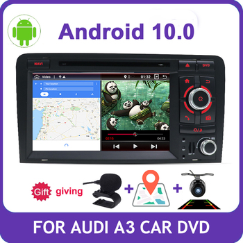 Bosion 7 inch HD 2 Din Android 10 Quad Core Car Radio Stereo DVD Player Multimedia Navigation GPS For Audi A3 8P 2003-2011 BT image