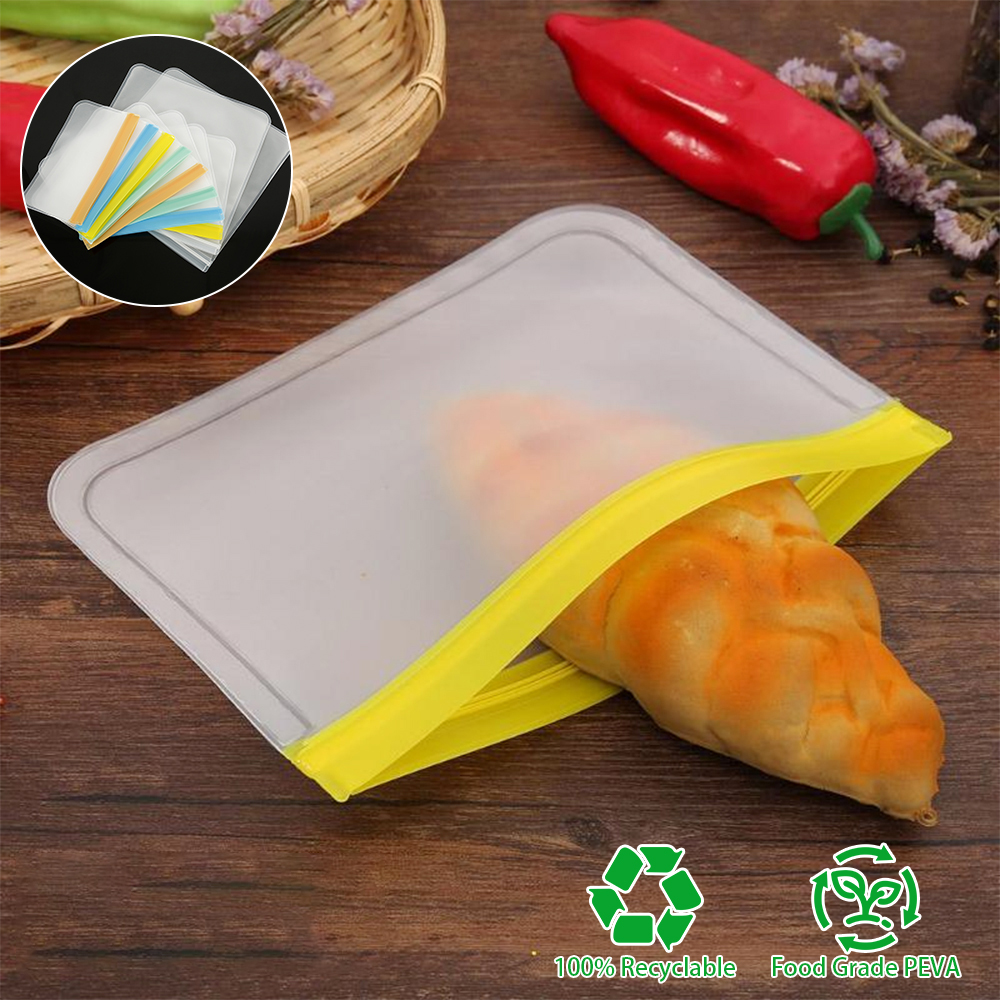 10PCS /Set Silicone Food Storage Containers Leakproof Reusable Stand Up Zip Shut Bag Cup Fresh Bag Food Storage Bag Fresh Wrap