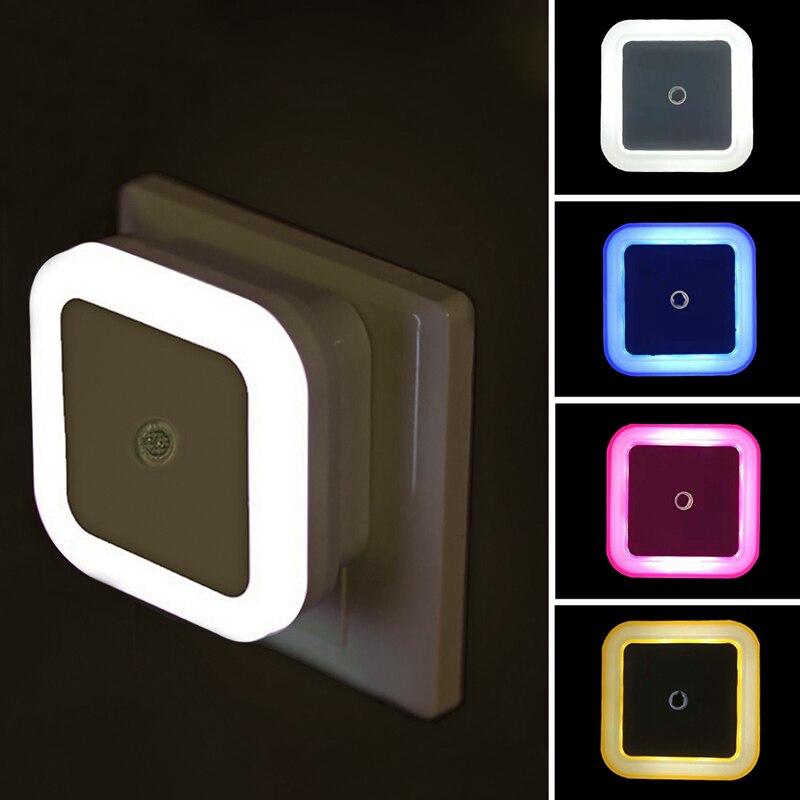 Sem fio led night light sensor de luz da noite mini ue plugue luz da noite lâmpada para sala estar