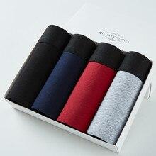 4 pçs/lote grande solto masculina cueca masculina calcinha de algodão boxers dos homens grandes jardas calcinha masculina plus size 4xl 5xl 6xl