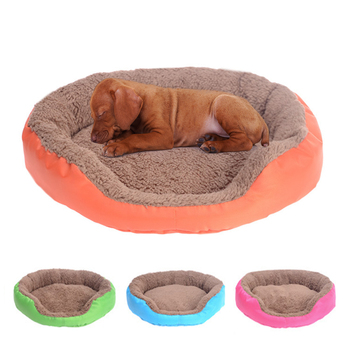 Dog Bed Sleeping Mat Soft Round Pets Beds Winter Warm Cat Kitten Cushions Pet Supplies Dog Kennel Puppy Cats Mat image