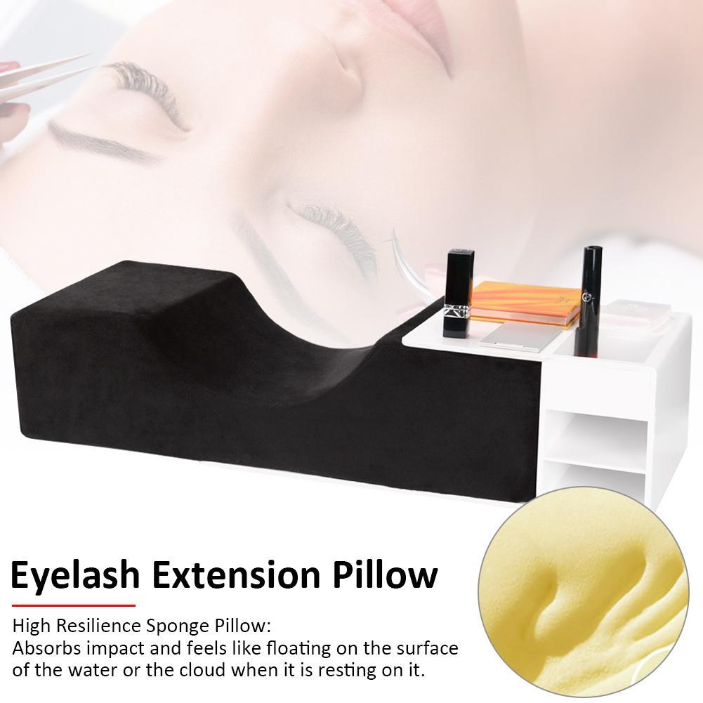 Eyelash Extension Pillow Grafting Eyelashes Lash Pillow Neck Support Ergonomic Curve Memory Foam Professional Makeup Tools