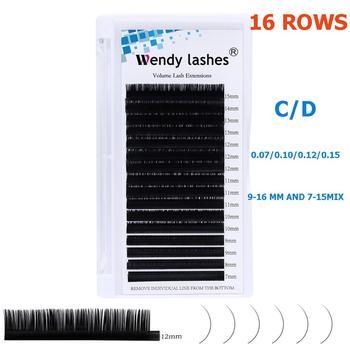 16 Rows Individual Eyelash Extension Faux Mink Eyelashes Thick Natural False Eyelashes Mink Classic Eyelash Extension Cilia