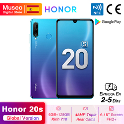 Новая глобальная версия Honor 20 S 20 S мобильные телефоны 6 ГБ 128 ГБ 6,15 дюймDewdrop экран 24MP фронтальная камера 48MP Тройная камера смартфон NFC