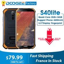 חדש DOOGEE S40 לייט מוקשח אנדרואיד 9.0 טלפון נייד 5.5 אינץ תצוגת 4650mAh MT6580 Quad Core 2GB RAM 16GB ROM 8.0MP IP68/IP69K
