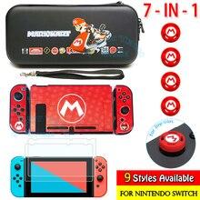 7in1ชุดสำหรับ Nitendo Switch เก็บกระเป๋า Colord PC & Screen Protector สำหรับ Nintendo Switch อุปกรณ์เสริม