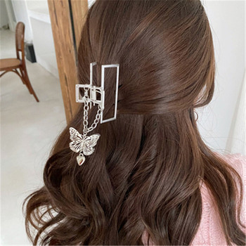 Luxury Butterfly Pearl Hair Claws Woman Girls Claw Hair Pin Hair Accessories Hairpin Headwear Hairgrip Tendy Barrettes image