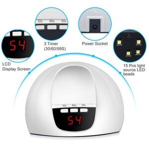 Image 3 - LKE UV Led Lamp SUN X5 mini Nail Dryer For All Types Gel 15 PCS LED Lamp for Nails with Portable UV lamp Nail Art Manicure Tools