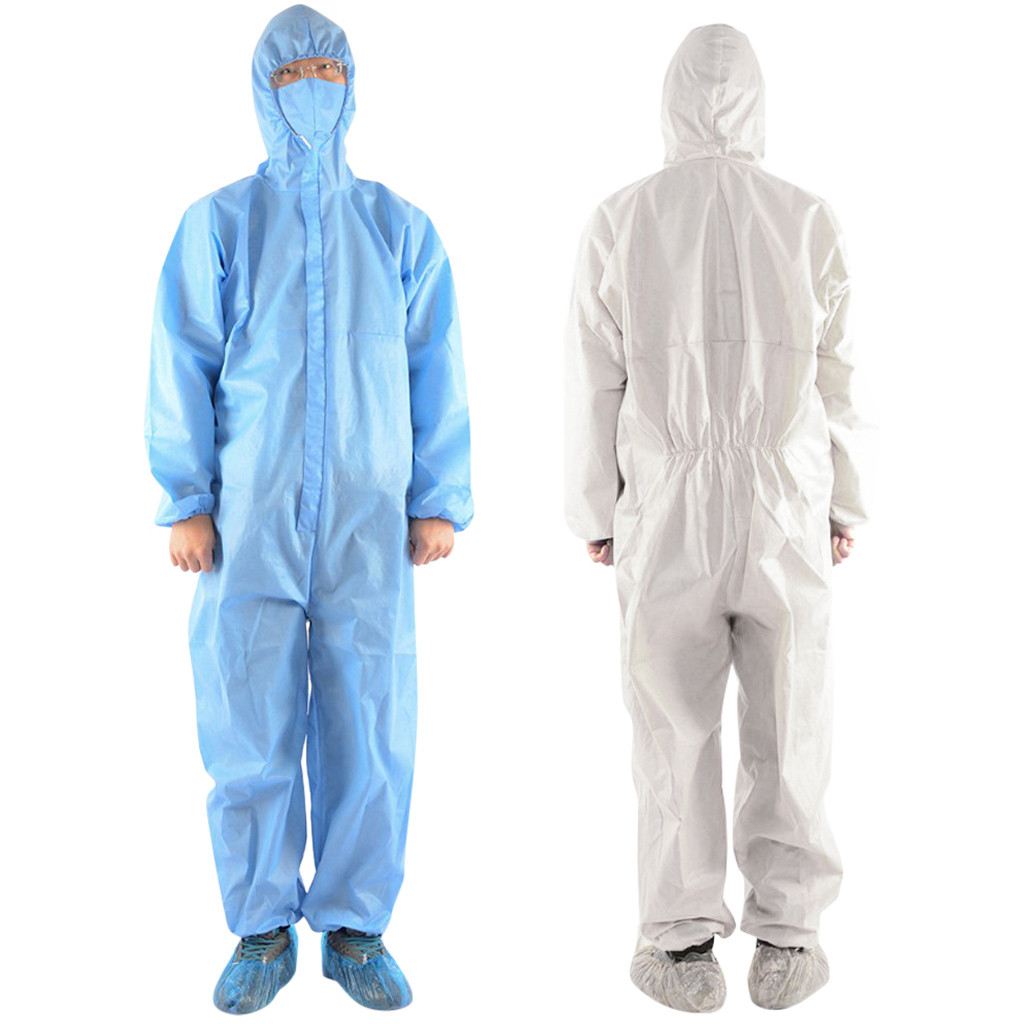 Non Porous Medical Protective Clothing with Zipper and Hood Made of Non Oven Material