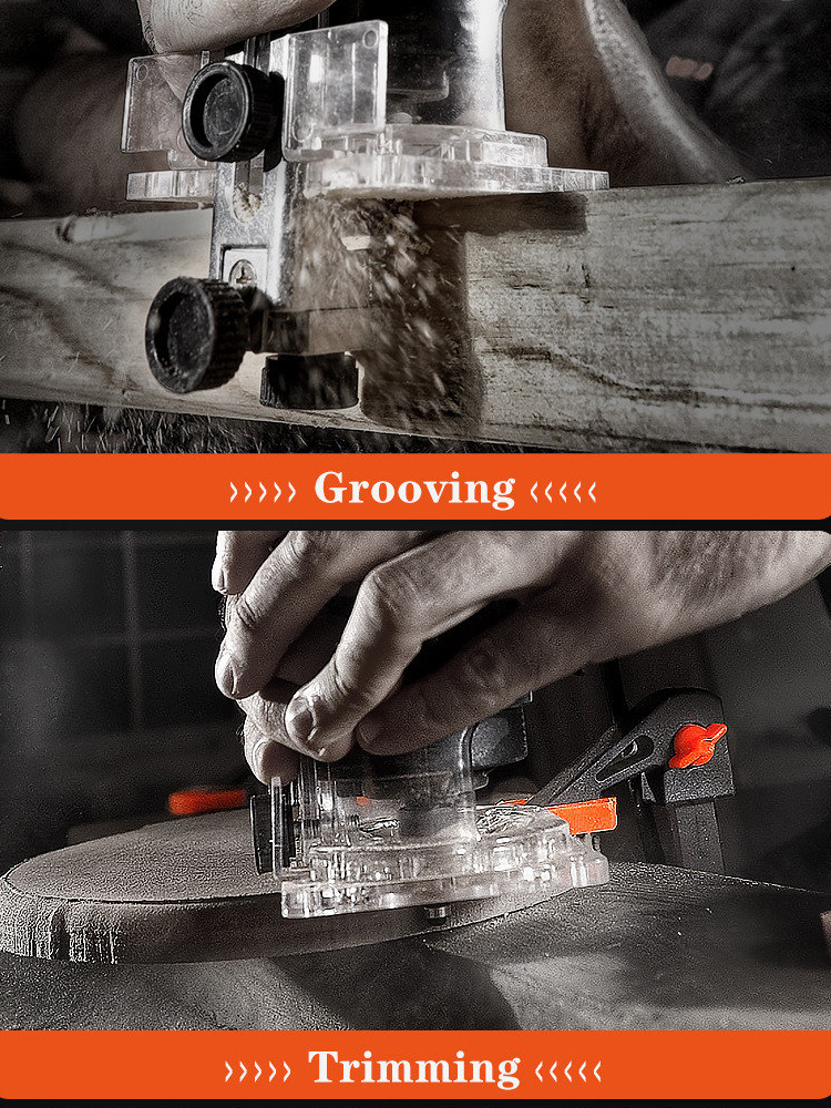Tools : LOMVUM Woodworking Electric Trimmer Renovator Cutter Engraving Slotting Trimming Machine Hand Carving Machine Wood Router