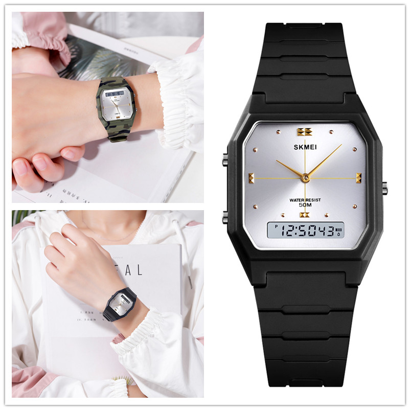 SKMEI Women Watches Digital Water Resistant Silicon Sport Watch Women 2Time Electronic Ladies Wrist Watch Relogio Feminino 1604