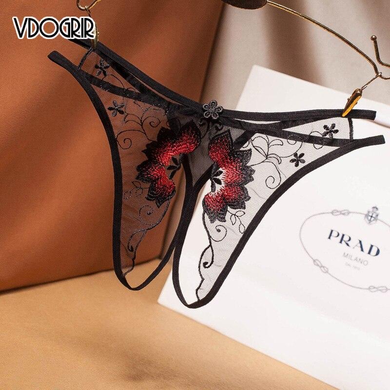 VDOGRIR горячие сексуальные женские кружевные трусики, нижнее белье, бесшовные стринги, комфортные женские трусики с низкой талией, домашняя о...