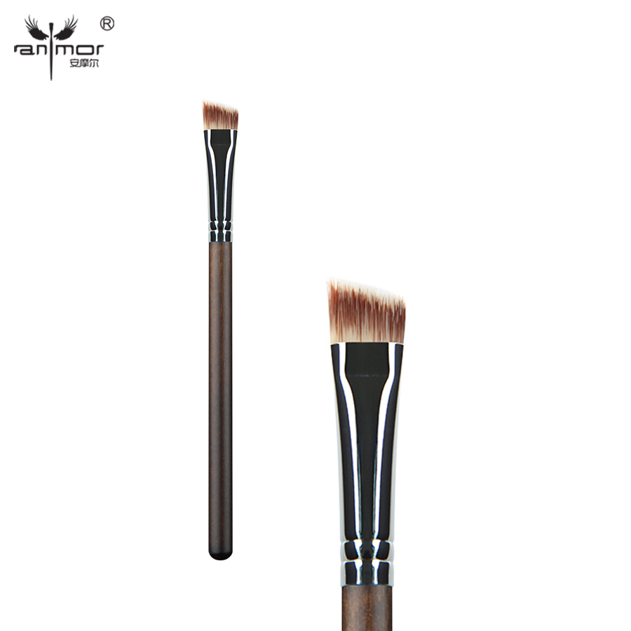 Anmor Synthetic Hair Angled Eyebrow Brush High Quality Eye Makeup Brushes for Daily or Professional Make Up Brow Brush brochas