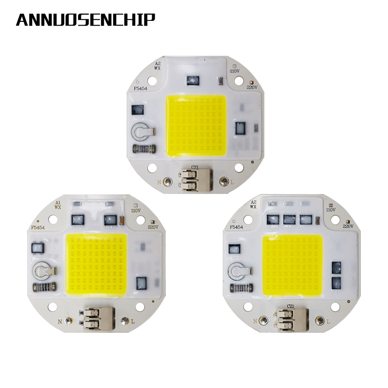 Quick Connect 50W 70W 1000W COB LED Chip For Spotlight Floodlight 220V 110V Integrated LED Light Beads Aluminum F5454 White Warm