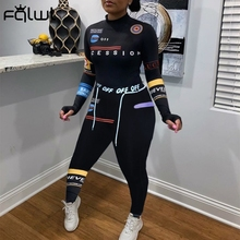 FQLWL Letter Print Sweat Suit Women Tracksuit Matching Set Streetwear Long Sleeve T Shirt Leggings 2 Two Piece Set Women Outfits
