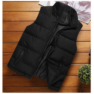 DIMUSI Mens Jacket Sleeveless Vest Winter Fashion Male Cotton-Padded Vest Coats Men Stand Collar Thicken Waistcoats Clothing 5XL