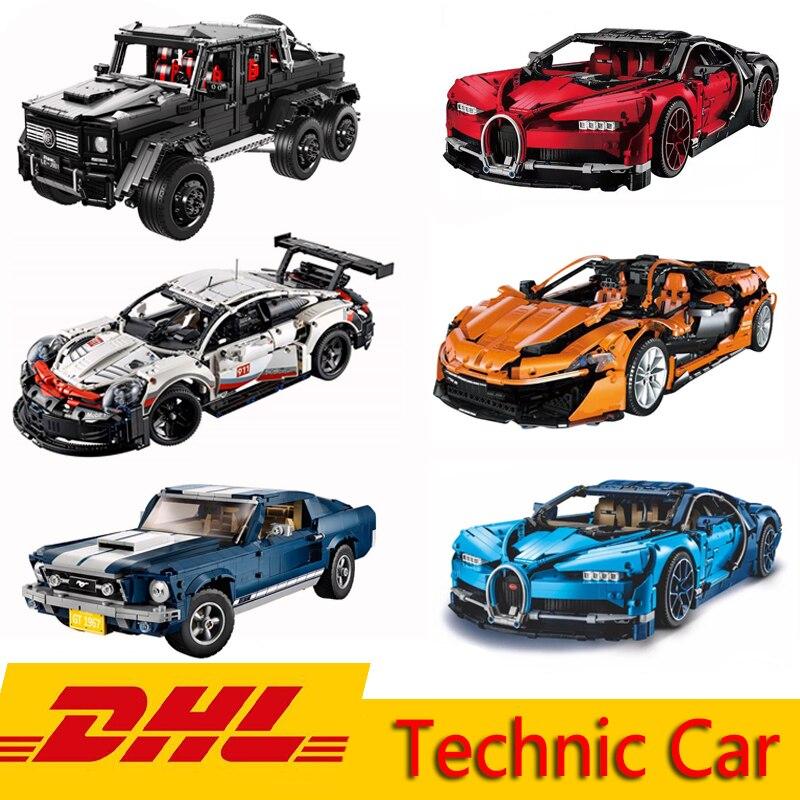 Technic Series Supercar 911 GT3-rs Bugatti Chiron Mustang Model 20001 20086 21047 Building Blocks Bricks Toy