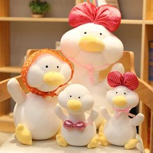 25/40/50cm 6 patterns Soft Baby Duck figurine Stuffed toys lovely white duck / sexy sleeping Funny toy birthday gift