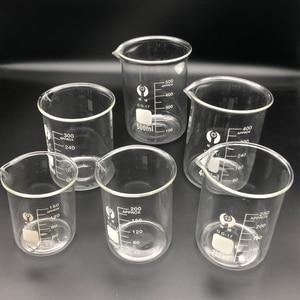 Image 3 - 1 set Laboratory Glass Beaker Borosilicate 3.3 Labotatory Measuring Glass kitchen Cup