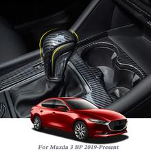 Osłona hamulca ręcznego samochodu pokrowiec z abs antypoślizgowy Parking hamulec ręczny uchwyty rękaw dla Mazda 3 BP 2019-Present akcesoria samochodowe tanie tanio QCBXYYXH decoration Uchwyty hamulca ręcznego 0 1kg BP13