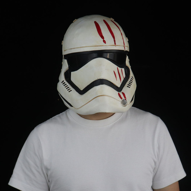 Star Wars Imperial Stormtrooper Mask Cosplay The Rise of Skywalker Latex Helmet Masks Halloween Party Props 4