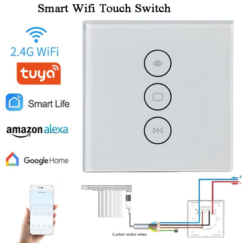AC100-240V Smart wifi switch wall switch Tuya Amazon alexa Google Home Chain Actuator opener Curtain switch Window operator