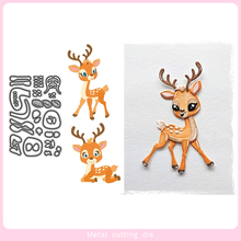Cute Animal Deer Metal Cutting Dies for DIY Scrapbooking Photo Album Decorative Embossing Paper Card Crafts Die Cut 2019