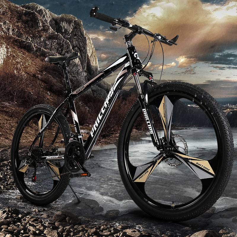 Mountain Bike 26 Inch Variable Speed Off Road Shock Double Disc Brake Student Bicycle