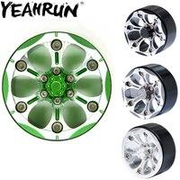 YEAHRUN 4pcs/set 1.9 Alloy Beadlock Wheel Rim W/hub For TRX 4 SCX10 D90 1/10 RC Crawler