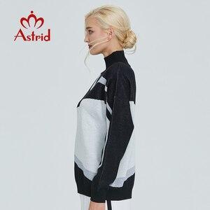 Image 3 - استريد 2019 خريف جديد وصول رولكراجين البلوز damen جودة عالية أعلى أسود أبيض جديد فاشي ملابس حريمي السيدات MS 012