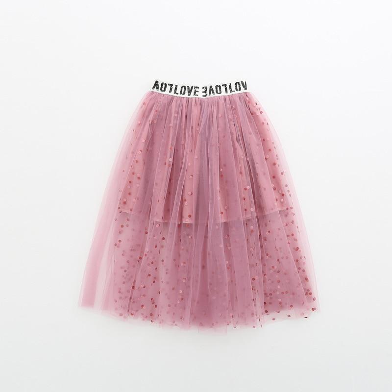 Fashion Sequins Girl Skirt Tutu Baby Kids Girl Princess Mesh Party Dance Ballet Tutu Skirts Tule Skirt Girls Children Skirt Long 1