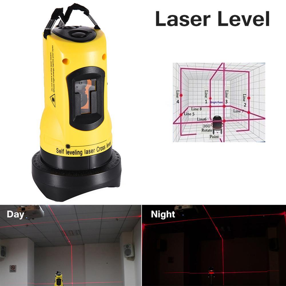 Instrumento de nivelación automática con láser infrarrojo de dos líneas, niveles de láser, herramientas de construcción de nivelación automática Multiusos 5 unidades/unids/lote 650nm 5 mW Módulo de línea láser rojo 3VDC 120 grados C 12X35mm