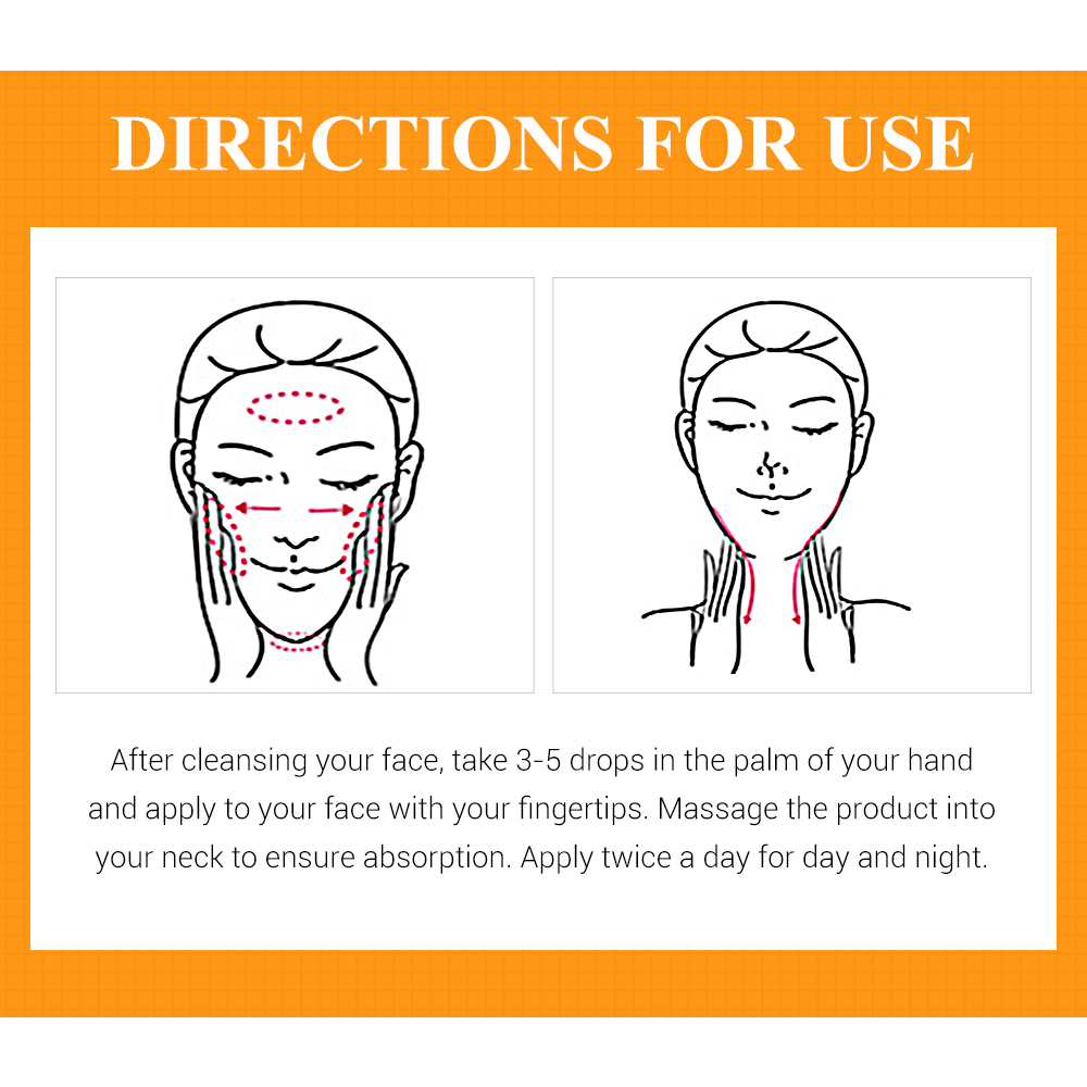 Купить с кэшбэком Vitamin C Facial Serum Anti Wrinkle Aging Essence Skin Whitening Freckle Creams Moisturizing Face Care Hyaluronic Acid Cream