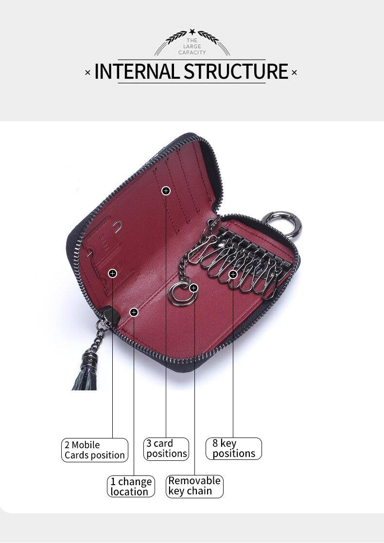 titular bolso carteira chave organizador chaveiro para homem e mulher porta llaves