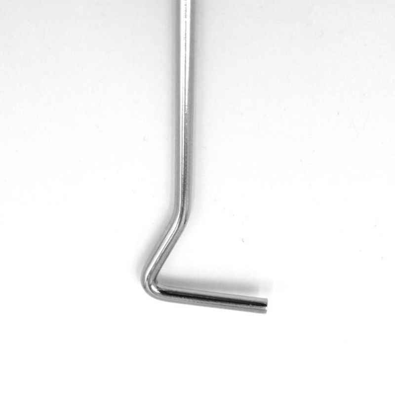 17,8 cm de acero inoxidable apagado vela extintor mecha Dipper gancho plata aceite lámpara Snuffers recortador tijera herramienta de mano mango largo