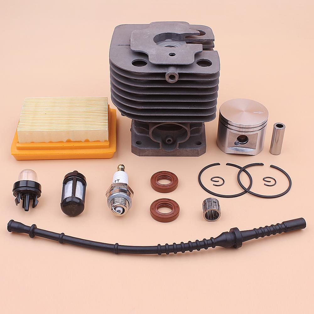 42mm Cylinder Piston Kit For Stihl FS450 FS 450 Air Fuel Filter Line Oil Seal Primer Bulb Spark Plug Trimmer 4128 020 1211